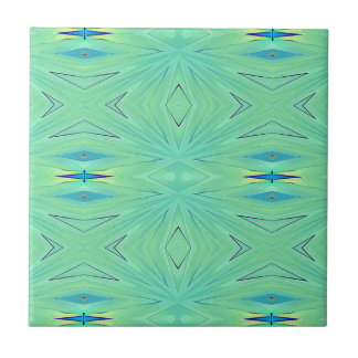 Pretty  Mint Green Aqua Pastel Spring Ceramic Tile
