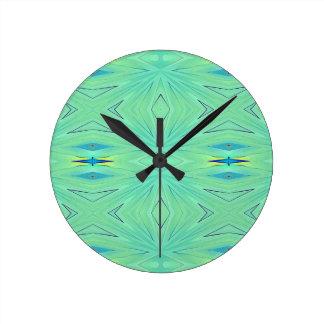 Pretty  Mint Green Aqua Pastel Spring Clocks