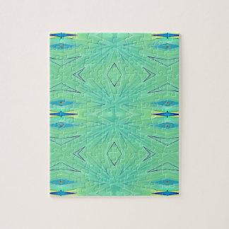 Pretty  Mint Green Aqua Pastel Spring Jigsaw Puzzle