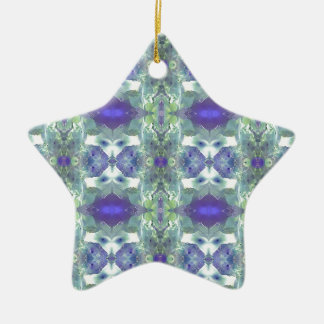 Pretty Mint Green Lavender Pastel Pattern Ceramic Ornament