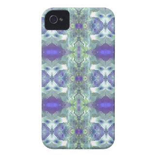 Pretty Mint Green Lavender Pastel Pattern iPhone 4 Covers