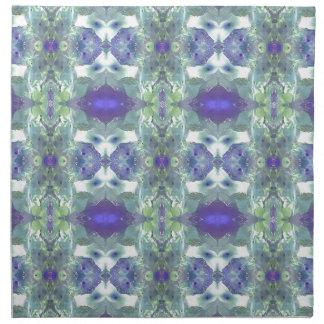 Pretty Mint Green Lavender Pastel Pattern Napkin