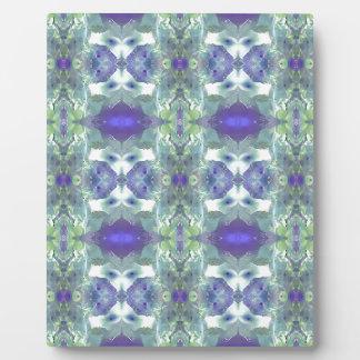 Pretty Mint Green Lavender Pastel Pattern Plaque