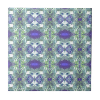 Pretty Mint Green Lavender Pastel Pattern Tile
