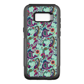 Pretty Mint Paisley OtterBox Commuter Samsung Galaxy S8+ Case