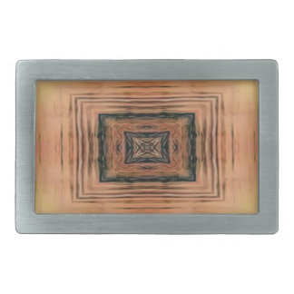 Pretty Mirror Image Lake Sunset Belt Buckle