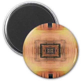 Pretty Mirror Image Lake Sunset Magnet