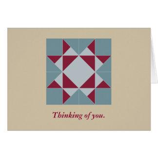 Pretty Missouri Star Quilt Pattern Note Card