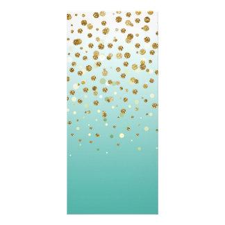 Pretty modern girly faux gold glitter confetti custom rack cards