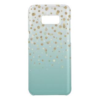 Pretty modern girly faux gold glitter confetti uncommon samsung galaxy s8 plus case