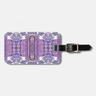 Pretty modern Lavender Pink Pastel Pattern Luggage Tag