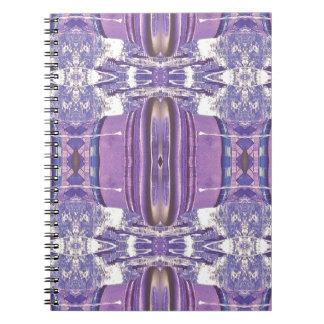 Pretty modern Lavender Pink Pastel Pattern Spiral Notebook