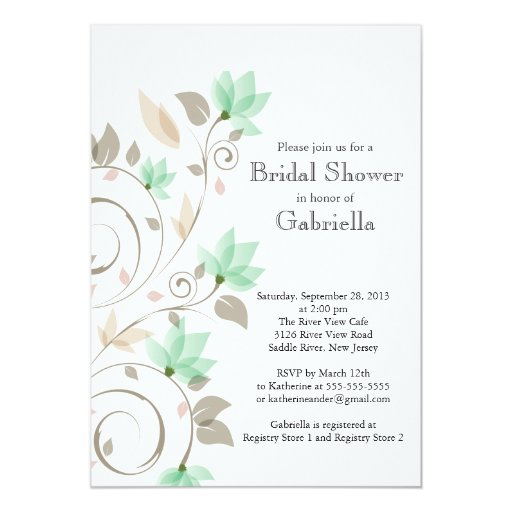 vine floralhigh bridal shower