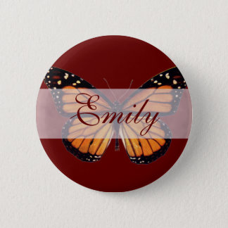 Pretty Monarch Butterfly 6 Cm Round Badge