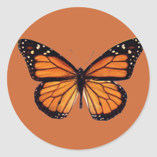 Pretty Monarch Butterfly Round Stickers