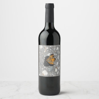 Pretty Monarch Butterfly Wine Label