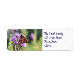Pretty Monarch Return Address Label