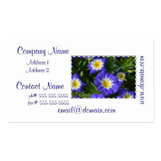 Pretty Morning Glories Business Card Template