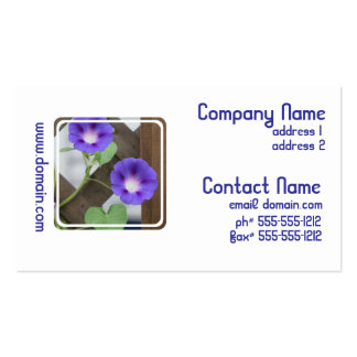 Pretty Morning Glories Business Cards