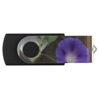 Pretty Morning Glories Swivel USB 2.0 Flash Drive