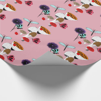 Pretty Mother Nature Country Illustration Wrapping Paper