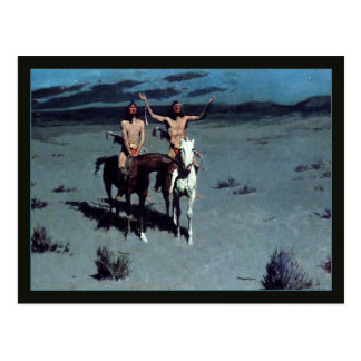 Pretty Mother Night by Frederic Remington Postcard
