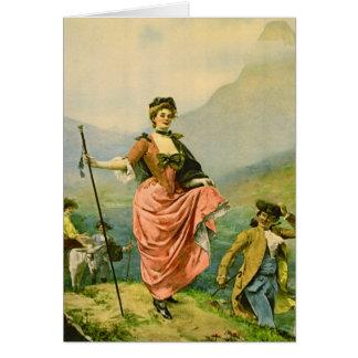 Pretty Mountaineer 1890 Greeting Card