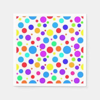 Pretty Multi Colored Spots Disposable Serviette