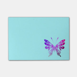 Pretty Multicolored Decorative Butterfly Post-it Notes