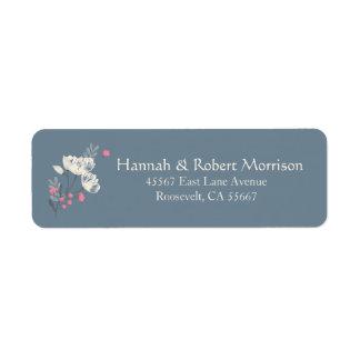 Pretty Multifloral Cream And Pink Return Address Label
