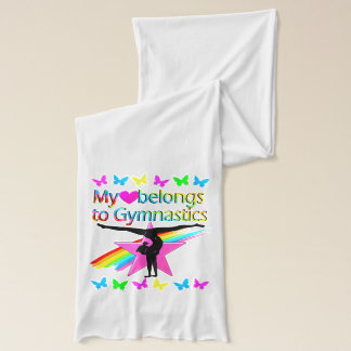 PRETTY MY HEART BELONGS TO GYMNASTICS RAINBOW SCARF