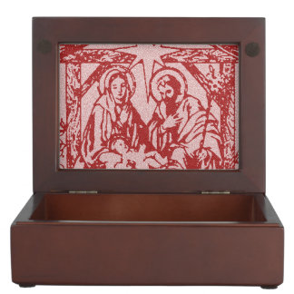 pretty nativity red outline_edited-1 keepsake box