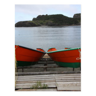 Pretty Newfoundland Boats Postcard