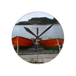 Pretty Newfoundland Boats Round Clock