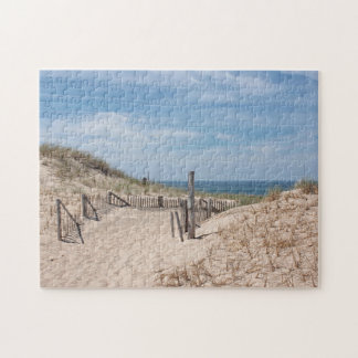 Pretty ocean scene at Race Point on Cape Cod Jigsaw Puzzle