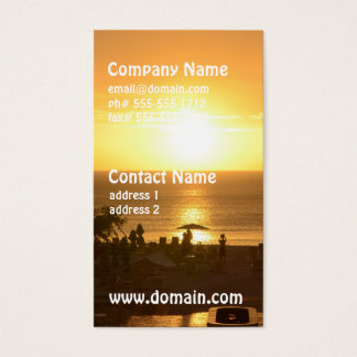 Pretty Ocean Sunset Business Card