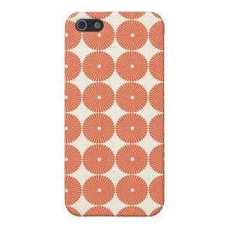 Pretty Orange Melon Circles Textured Disks Pattern iPhone 5 Cases