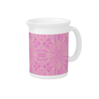 Pretty Orchid Purple Beautiful Abstract Flower Drink Pitcher