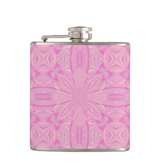 Pretty Orchid Purple Beautiful Abstract Flower Hip Flask
