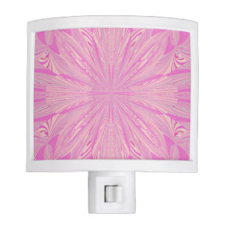 Pretty Orchid Purple Beautiful Abstract Flower Night Lite