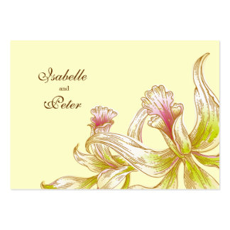 Pretty Orchids Wedding Directions Card Business Cards