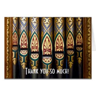 Pretty organ pipes thank you card