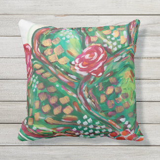 Pretty outdoor pillow/ cactus pillow/ southwest cushion