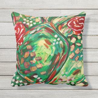 Pretty outdoor pillow/ patio pillows/ summer decor cushion
