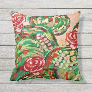 Pretty outdoor pillows/ outdoor decor/ cactus outdoor cushion