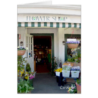 """""""Pretty Painted Flower Shop"""" Card"""