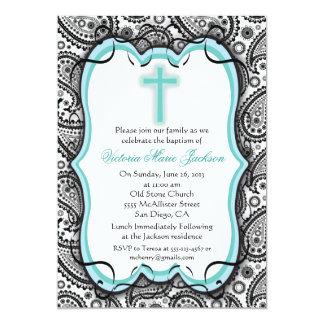 Pretty Paisley Baptism/Christening Invitation