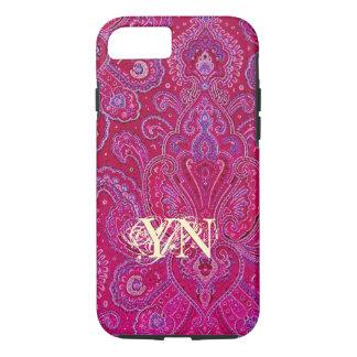 Pretty Paisley monogram iPhone 8/7 Case