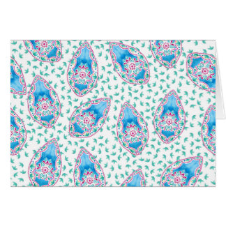 Pretty Paisley Watercolor Pattern Card