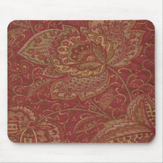 Pretty Paisley Wine Gold Olive Shades Mousepad